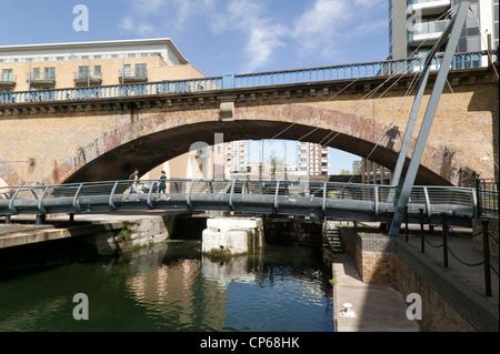 Docklands Light Railway Limehouse Viaduct London United