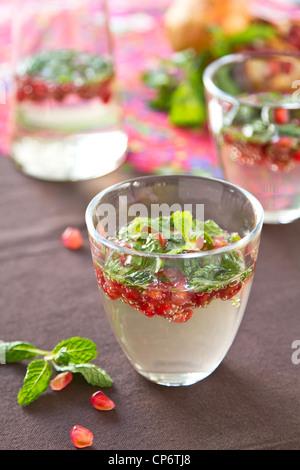 Mojito Pomegranate - Stock Photo