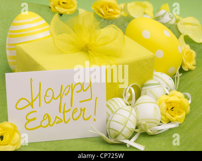 Happy Easter Present - Stock Photo