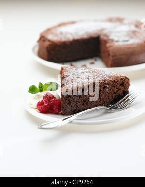 Light Chocolate Torte - Stock Photo