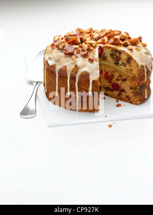 Easter Simnel Cake - Stock Photo