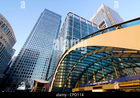 Canary Wharf Station, Isle of Dogs, Docklands, London, England, United Kingdom, Europe - Stock Photo