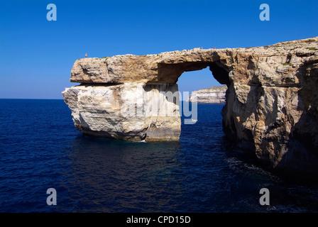 Azure Window, Dwejra Bay, Gozo, Malta, Mediterranean, Europe - Stock Photo
