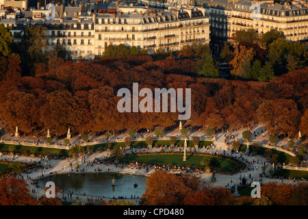 Aerial view of the Luxembourg garden, Paris, France, Europe - Stock Photo