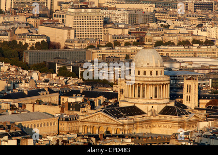 Aerial view of Paris around the Pantheon, Paris, France, Europe - Stock Photo