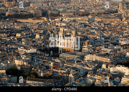Aerial view of Paris, France, Europe - Stock Photo