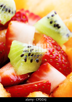 Close-up of Fresh Fruit Salad - Stock Photo