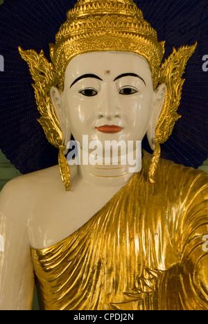 Buddha head, Shwedagon Pagoda, Yangon (Rangoon), Myanmar (Burma), Asia - Stock Photo