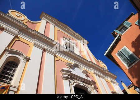Eglise Saint Michel (St. Michaels Church), Villefranche sur Mer, Cote d'Azur, French Riviera, Provence, France, - Stockfoto