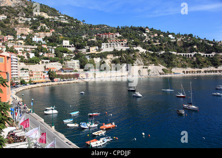 Harbor, Villefranche sur Mer, Alpes Maritimes, Cote d 'Azur, French Riviera, Provence, France, Europe - Stockfoto
