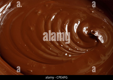 Authentic melted chocolate background - Stock Photo