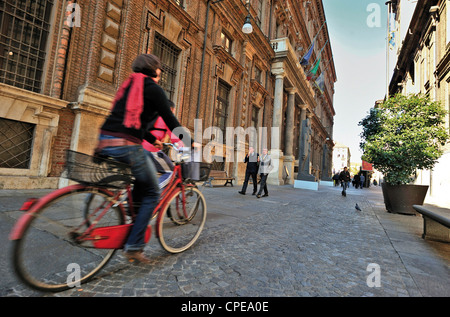 Europe Italy Piedmont Turin Via Accademia delle Scienze Egyptian Museum - Stock Photo
