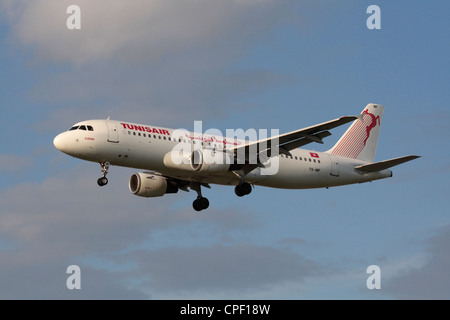 Tunisair Airbus A320 on arrival - Stock Photo