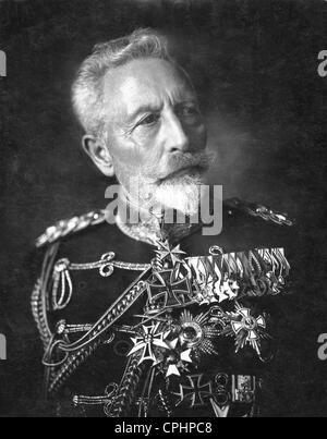Wilhelm II. (1859-1941), former German Emperor and King of Prussia, in his exile home in Doorn. - Stock Photo