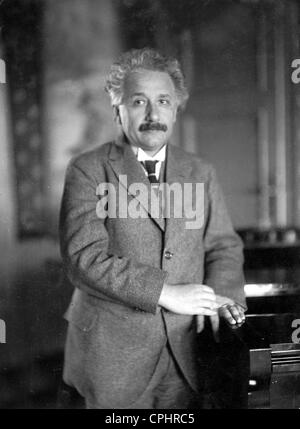 German physicist and winner of the Nobel Prize in Physics (1921) Albert Einstein (1879-1955). - Stock Photo