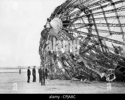 Wreck of the LZ 129 'Hindenburg' - Stockfoto