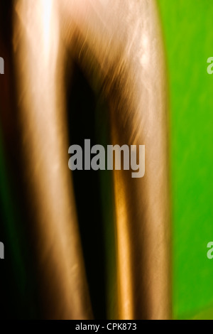 Extreme closeup of scissors. Abstract image taken with a high magnification macro lens. - Stock Photo