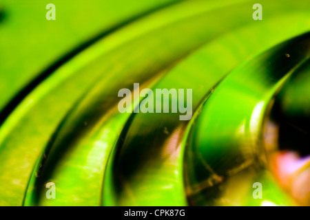 Closeup of colorful glass. Abstract image taken with a high magnification macro lens. - Stock Photo