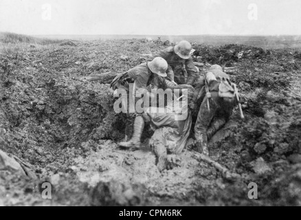 German soldiers during the battle of Verdun, 1916 - Stock Photo