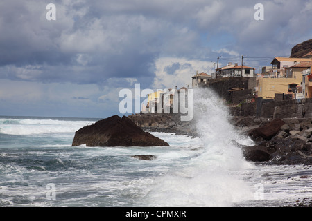 wild Atlantic Ocean at Paul do Mar, Madeira, Portugal, Europe. Photo by Willy Matheisl - Stock Photo