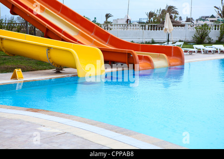 Water Slide In Public Pool Outdoors Albuquerque New Mexico Stock Photo Royalty Free Image