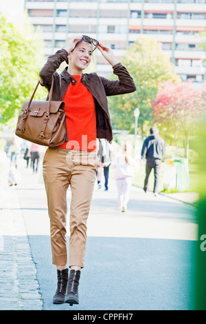 WOMAN OUTDOORS - Stock Photo
