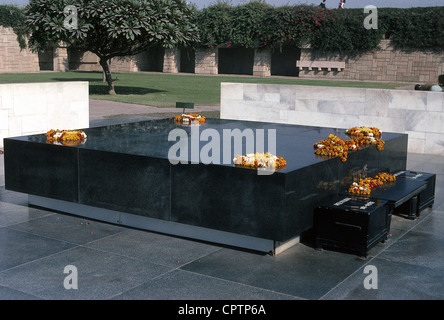 Gandhi, Mohandas Karamchand, called Mahatma, 2.10.1869 - 30.1.1948, Indian politician, his grave in New Delhi, India, - Stockfoto