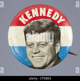 1960 U.S. presidential campaign button for John F. Kennedy - Stockfoto