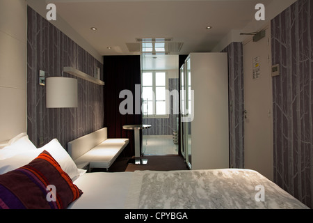 paris france modern furniture contemporary exhibit inside george stock photo royalty free. Black Bedroom Furniture Sets. Home Design Ideas