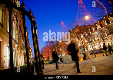 paris france street scene luxury christmas shopping chanel and stock photo royalty free. Black Bedroom Furniture Sets. Home Design Ideas