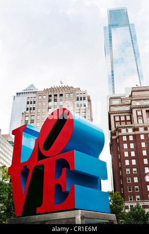 The LOVE sculpture designed by Robert Indiana in Philadelphia Pa. - Stockfoto