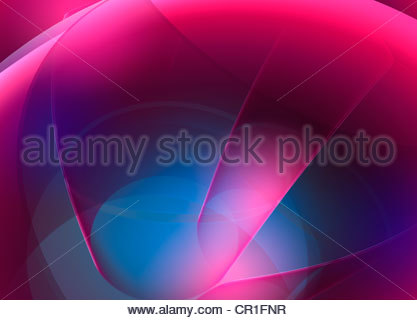 Digitally generated abstract background with blurred pink and blue - Stock Photo