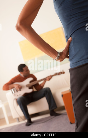 Sofa with electric guitar stock photo 25667009 alamy for Wohnlandschaft young living