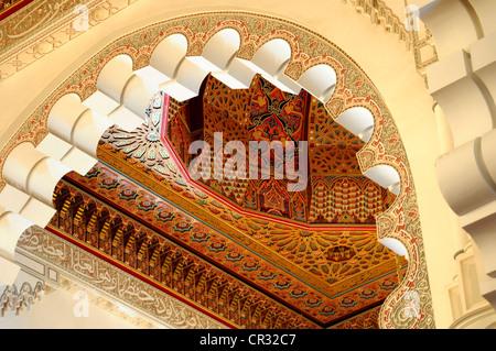 Interior Decoration Inside Hassan Ii Mosque Casablanca