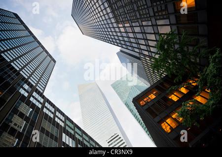 High-rise buildings, Park Avenue, Manhattan, New York, USA, America - Stock Photo