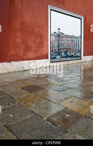 Reflection of the Canal Grande, Venice, Italy, Europe - Stock Photo