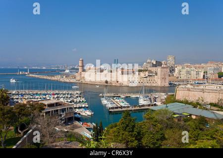 View of fort st jean vieux port marseille old provence - Parking vieux port fort saint jean marseille ...