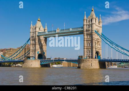 Tower Bridge from Southwark, London, England, United Kingdom, Europe - Stock Photo