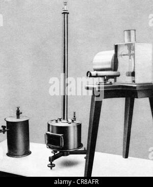 Curie, Marie, 7.11.1867 - 4.7. 1934, French chemist and physicist Polish ancestry, instruments used by her during - Stock Photo