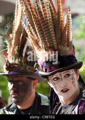 Musicians at a Morris dancing festival in Brighton - Stock Photo