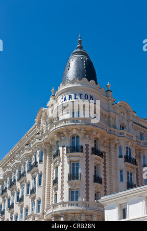 Carlton International, luxury hotel on La Croisette, Cannes, Côte d'Azur, Southern France, France, Europe, PublicGround - Stock Photo