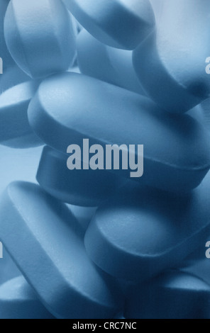 Close up of Vicodin pills - Stock Photo