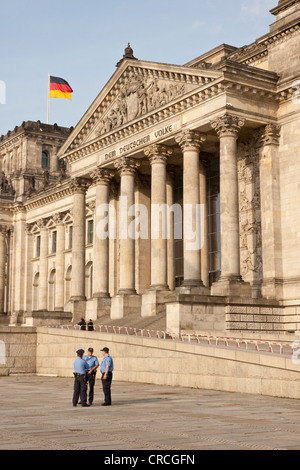 Entrance to the Reichstag building, Berlin, Germany, Europe - Stock Photo