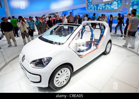Volkswagen, VW up, convertible, 64th International Motor Show, IAA, 2011, Frankfurt am Main, Hesse, Germany, Europe - Stock Photo