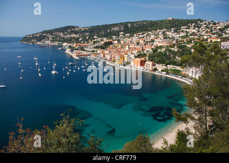 Villefranche-sur-Mer between Nizza and Monaco, France, Villefranche-Sur-Mer - Stockfoto