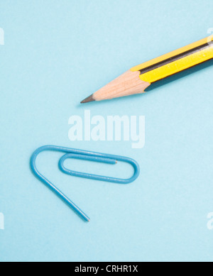 Pencil and clip - Stock Photo