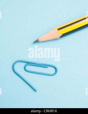 Pencil and clip - Stock Photo
