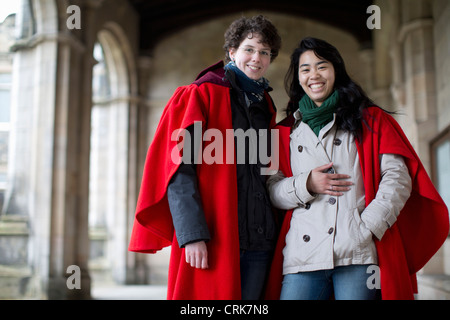 University students in traditional capes - Stock Photo