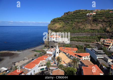 Beach at the village Ponta Do Sol, Madeira, Portugal, Europe. Photo by Willy Matheisl - Stock Photo