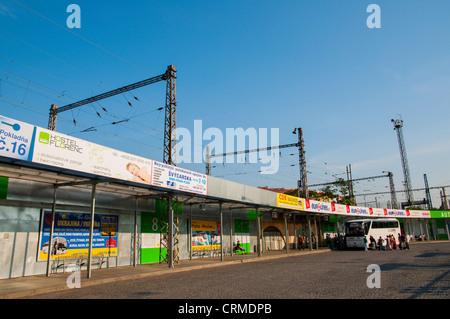 Florenc long distance bus station Karlin district Prague Czech Republic Europe - Stock Photo
